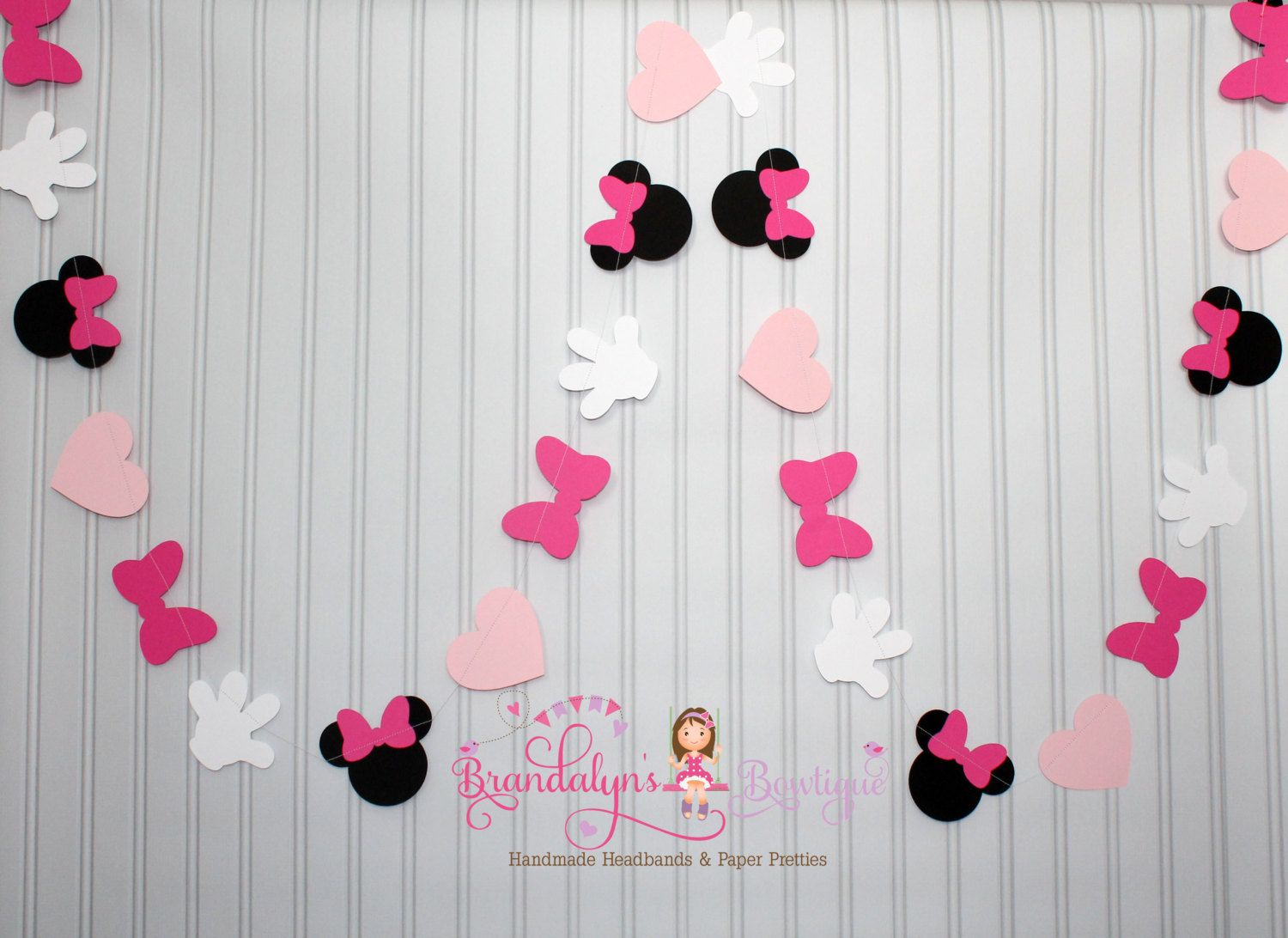 de color rosa minnie mouse garland 12 pies minnie mouse mesa de