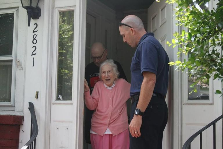 These Firefighters Did the Cutest Thing for a Local Woman's 100th Birthday