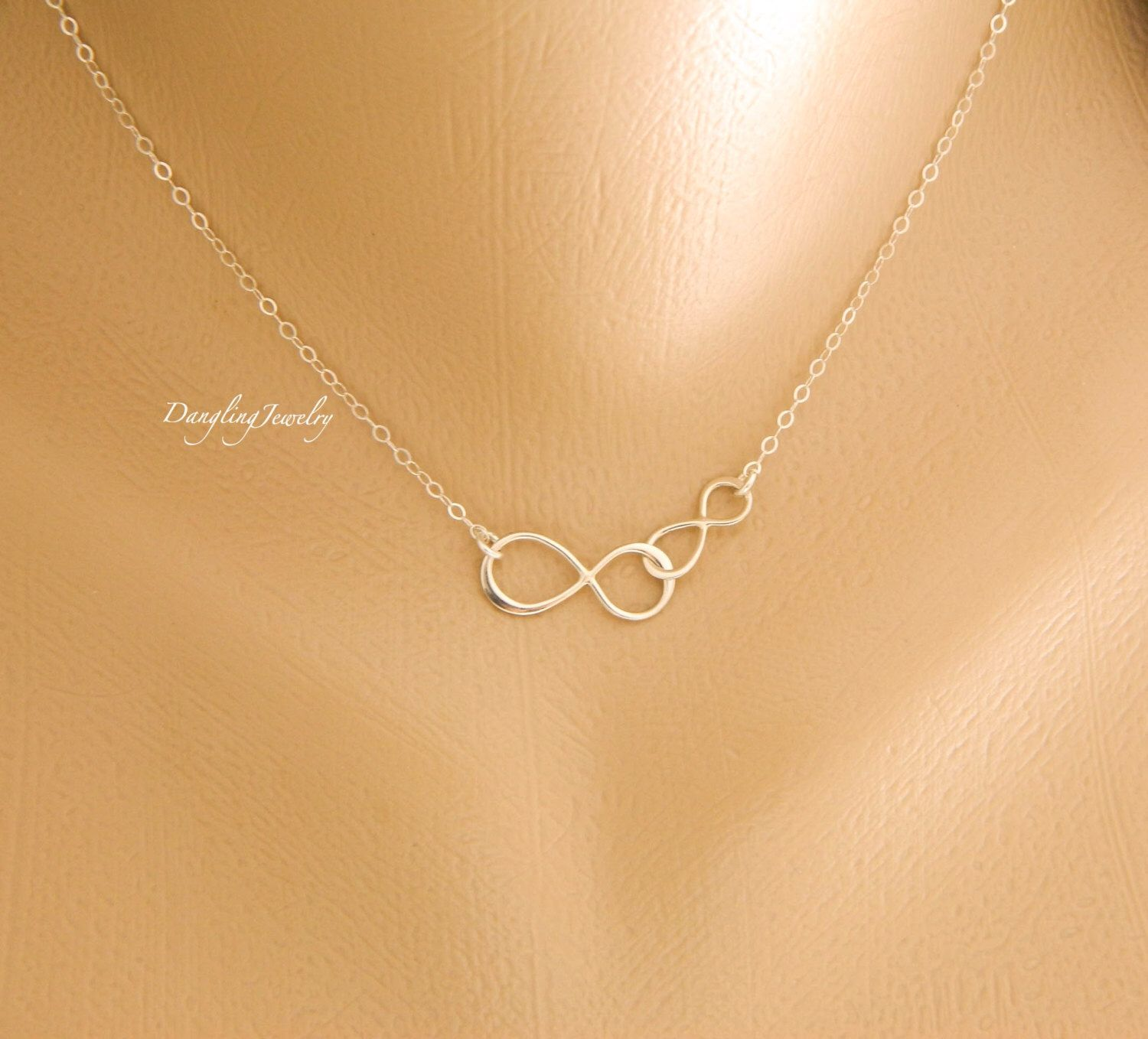 for tiny bride jewelry infinity heart of daughter copy necklace to gold mom bridesmaid silver from gift mother sterling
