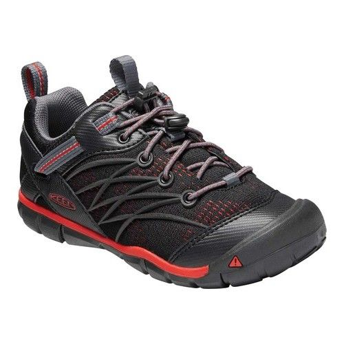 1b46f55e Children's Keen Chandler CNX Youth - Raven/Firey Red Hiking Shoes ...