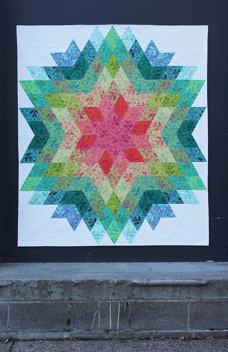 Medallion Star Quilt Pattern from Quilt Addicts Anonymous