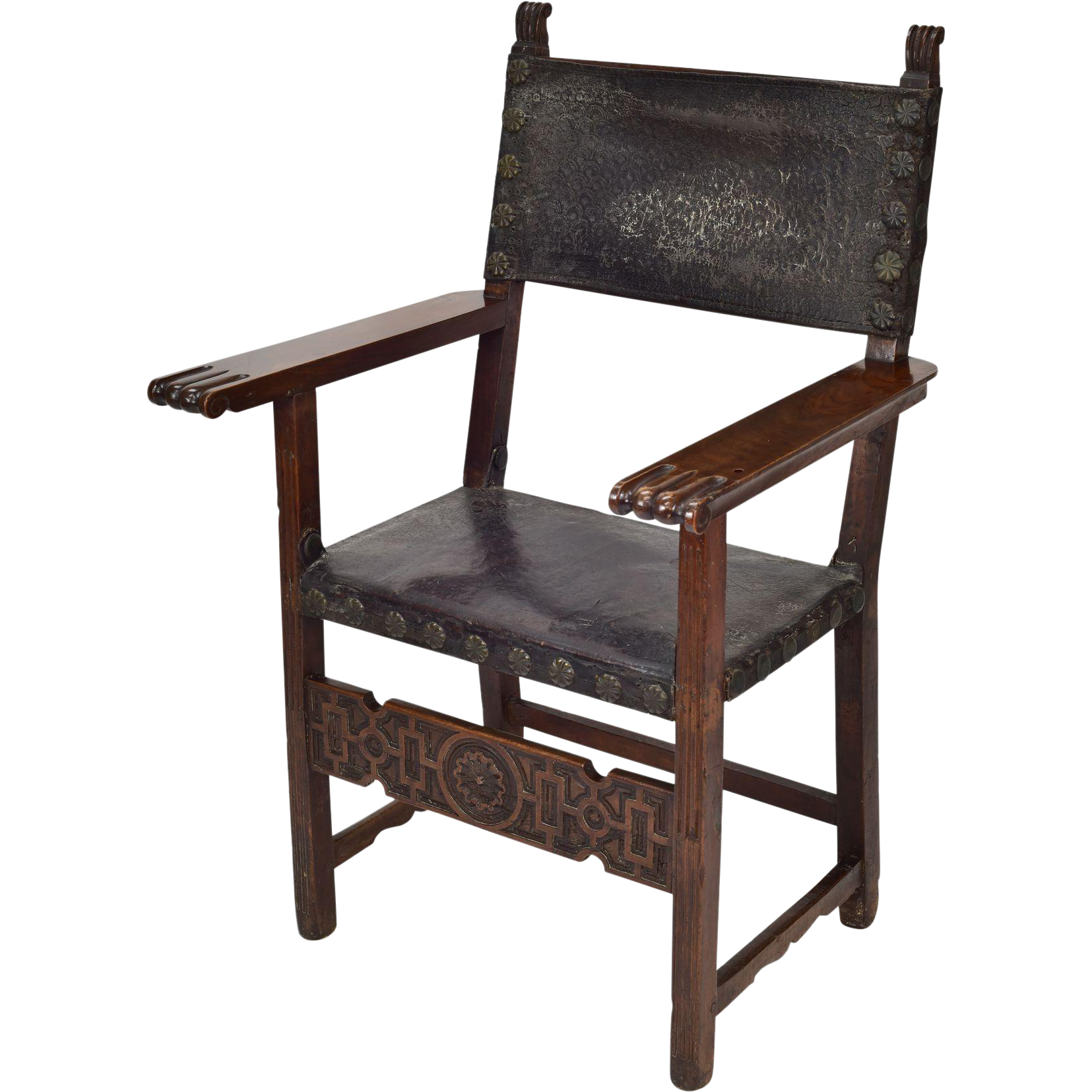 This Is A Special 17th Century Spanish Friars Chair It Features All Of The Elements Of A Highly Styled Chair This Wa Walnut Chair Chair Spanish Renaissance
