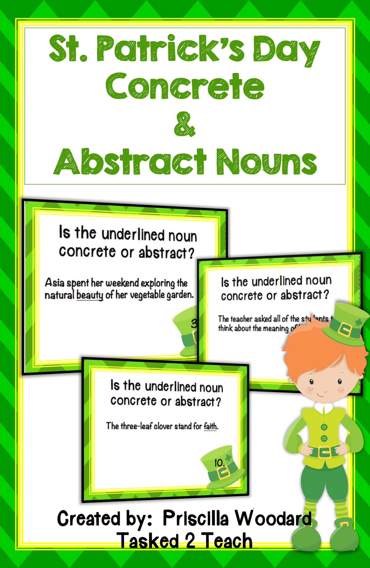 St Patrick S Day Concrete And Abstract Nouns For 3rd 4th