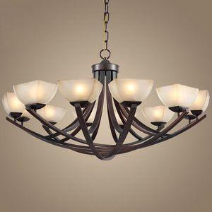 Large Modern Chandelier Lighting Intended Country 12light Glass Shade Twig Large Modern Chandeliers