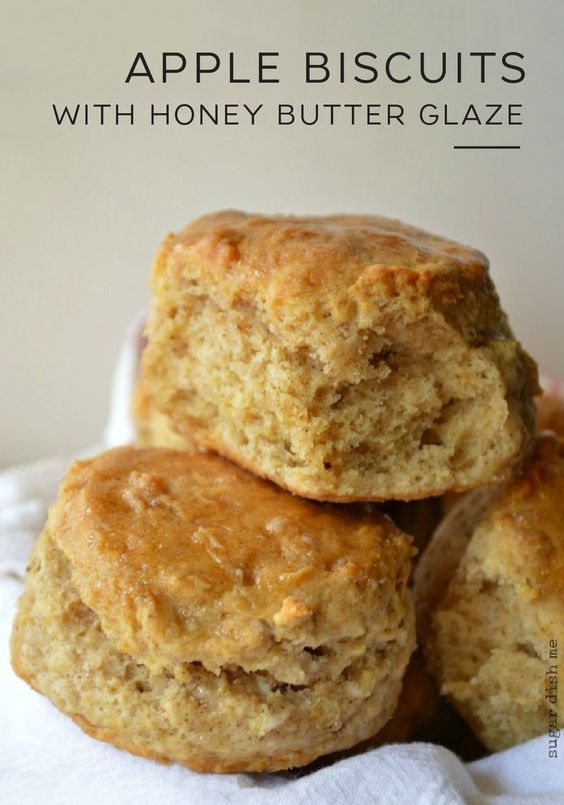 Apple Biscuits with Honey Butter Glaze - Sugar Dis
