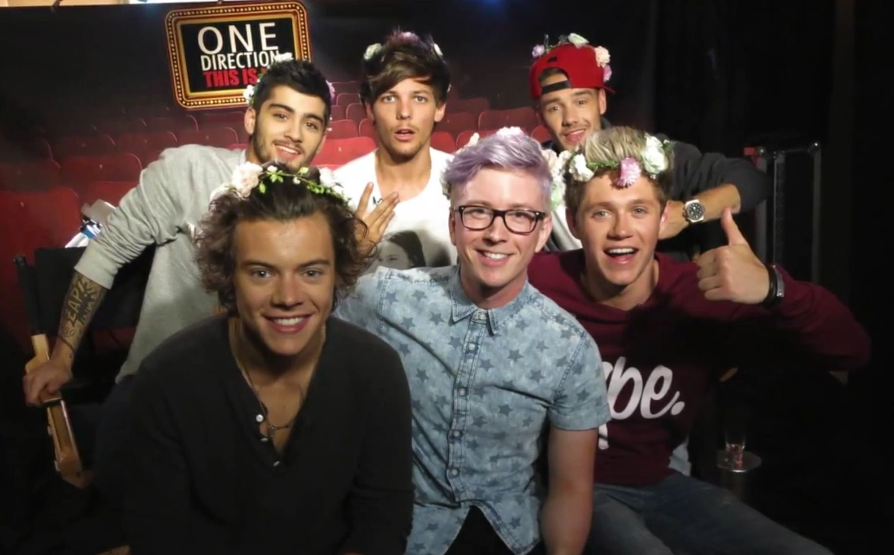 The Boys And Tyler Oakley All Rocking The Flower Crowns This Is A