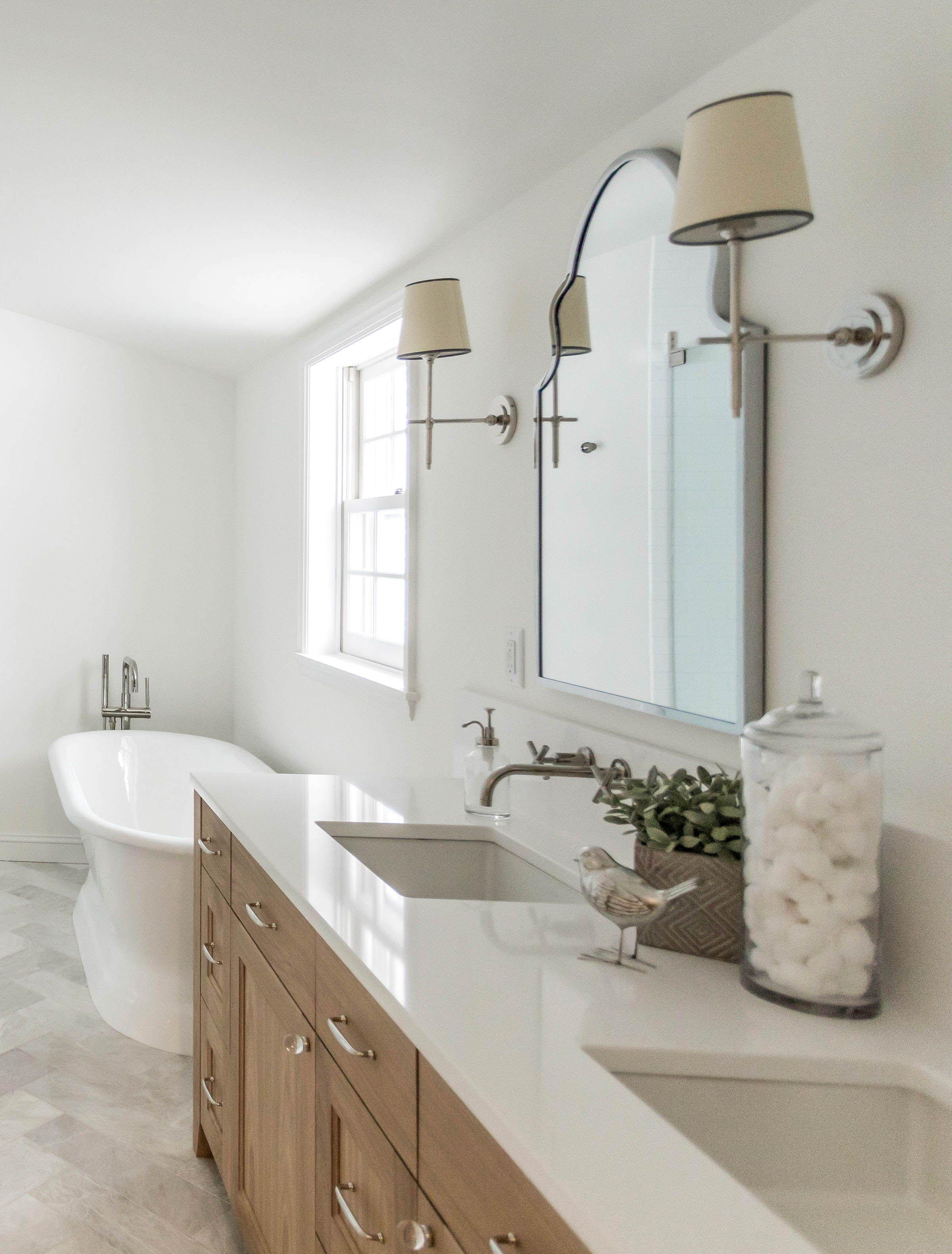 white oak custom bathroom vanity white countertops on custom bathroom vanity mirrors id=71361