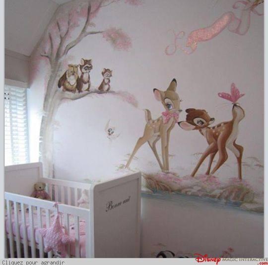 Angel Themed Design For A Baby Girl S Nursery: Bambi Themed Nursery