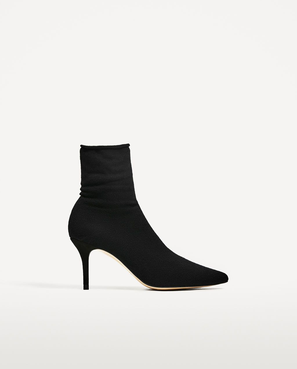 d3e9e2666bc Image 2 of HIGH HEEL SOCK STYLE ANKLE BOOTS from Zara