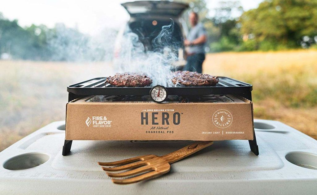 Fire Flavor Hero Grill Portable Cooking Station Gets You Ready