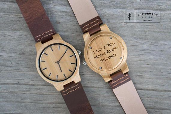 Wedding Day Gift From Groom To Bride: Groom Gift From Bride Grooms Gift For Groom Wood Watch