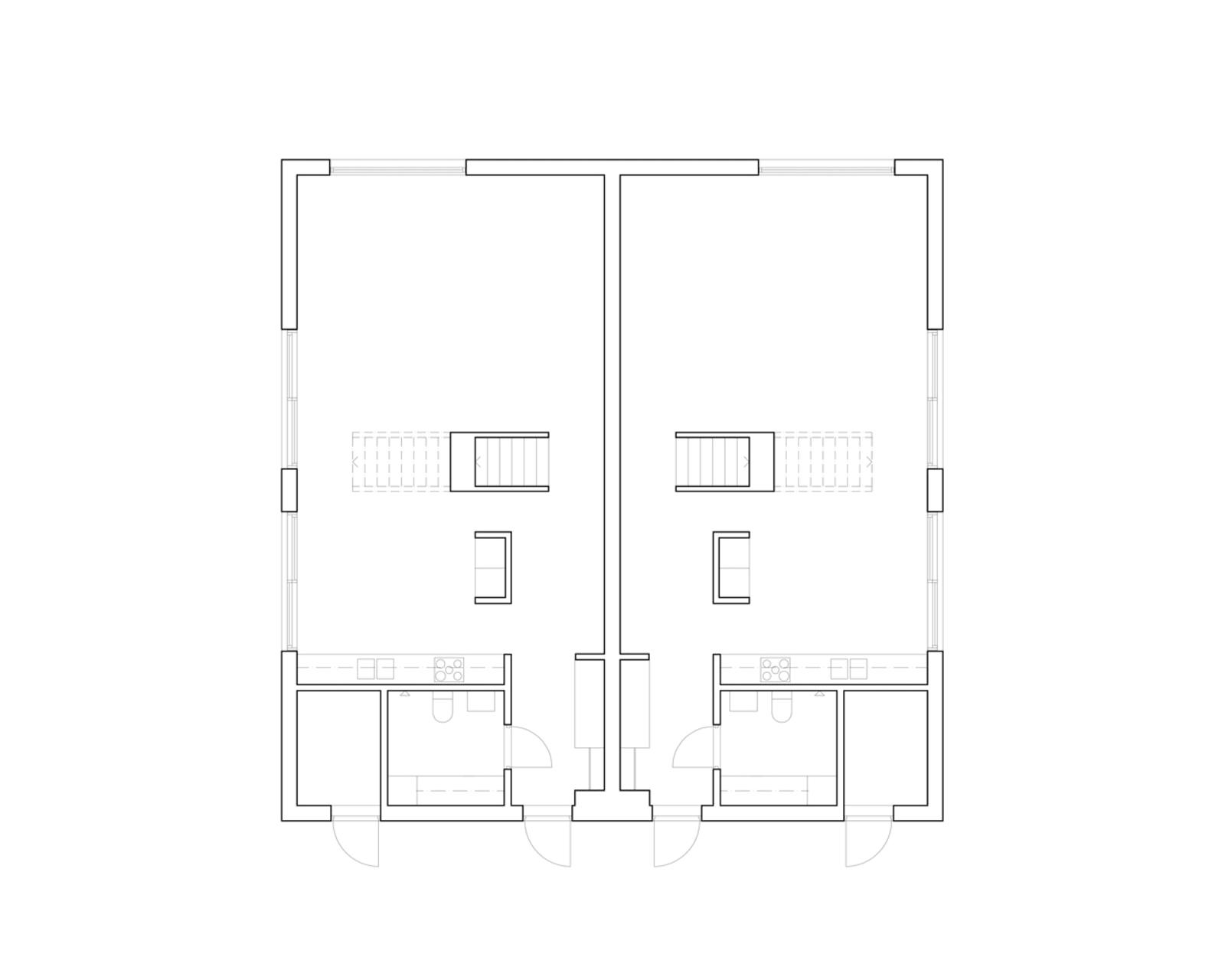 Hermansson Hiller Lundberg Arkitekter, Mikael Olsson · Three Semi-detached Houses