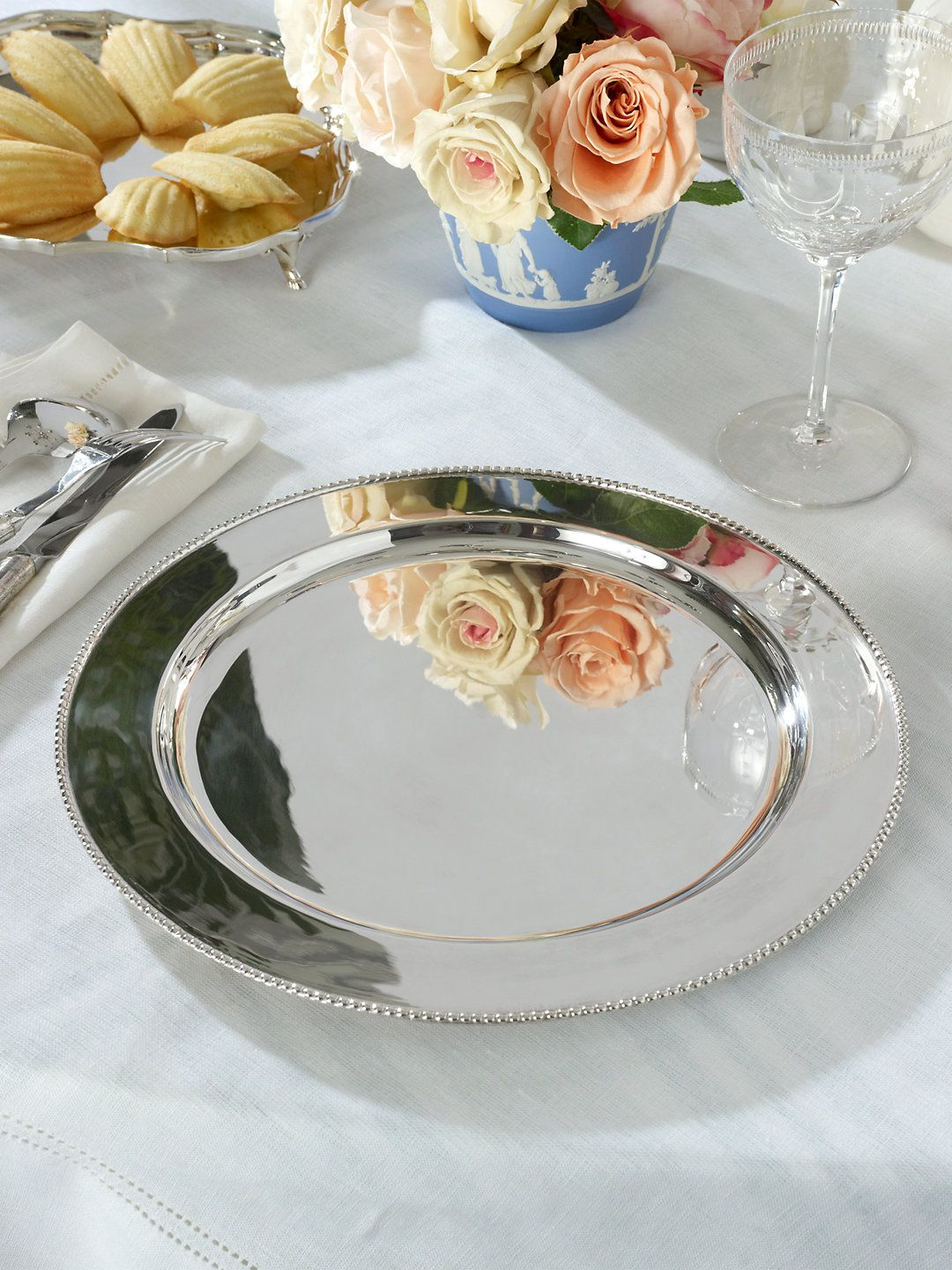 Durant Beaded silverplated Charger - Ralph Lauren Dinnerware
