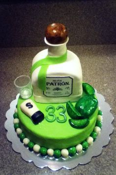 Cake On Pinterest Patron Tequila Patron Bottles And
