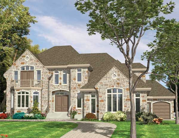 Well designed 3 bedroom European style home.  House Plan # 571093
