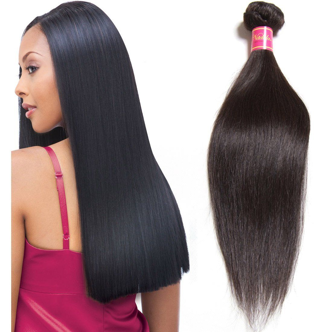 Nadula Brazilian 1 Bundle 7a Straight Remy Virgin Human Hair