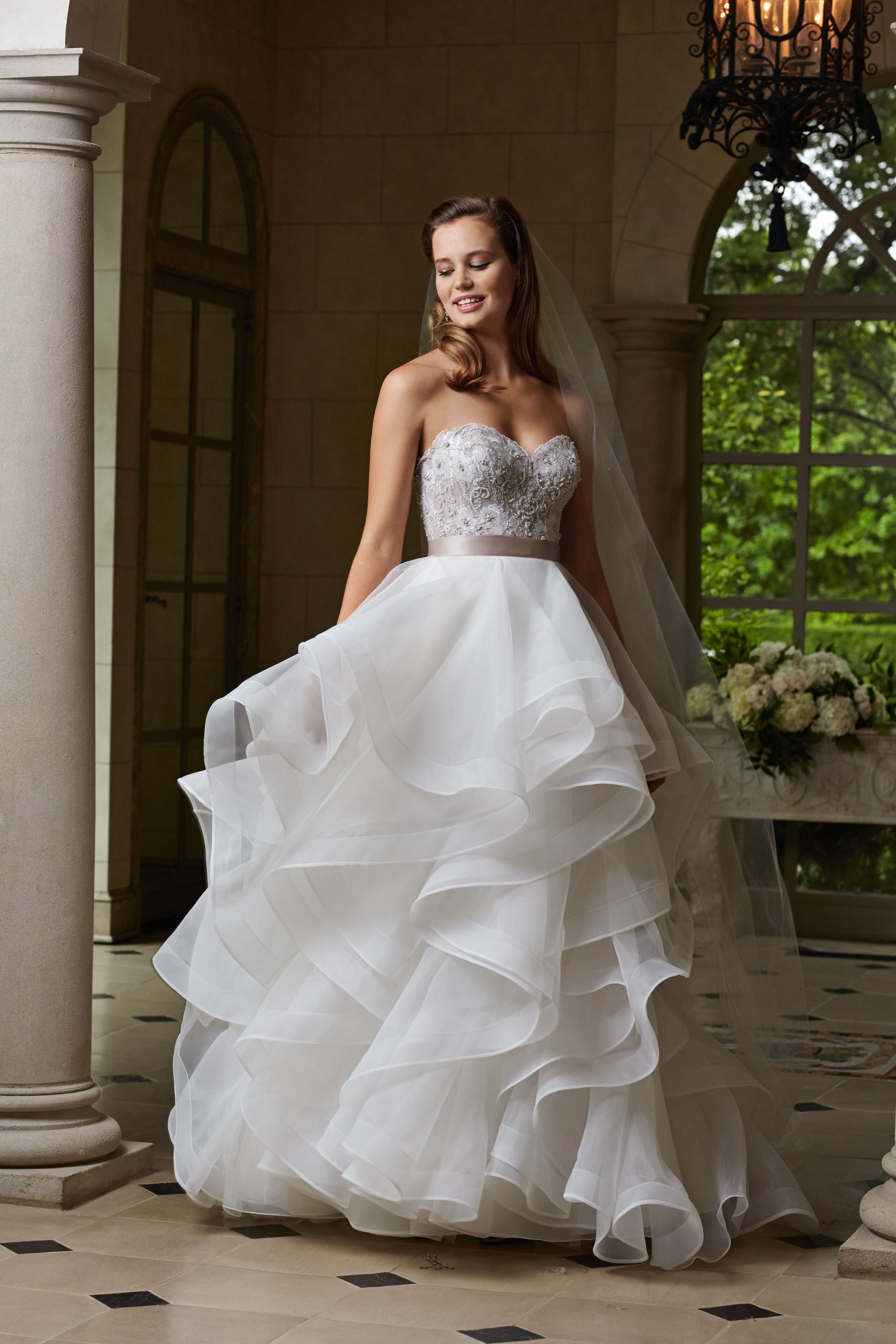6e4c02d34a1e Wtoo Maelin corset and Nori skirt. #watters #weddingdress | Bridal ...