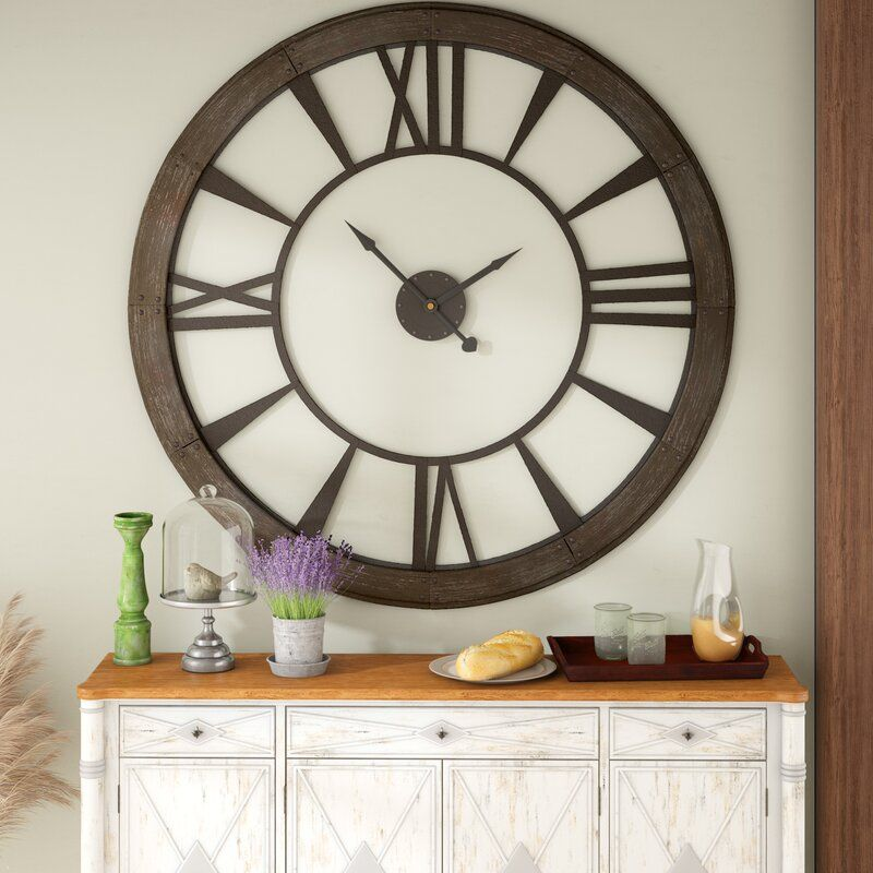 Oversized 60 Wall Clock In 2020 Big Wall Clocks Oversized Wall Clock Wall Clock