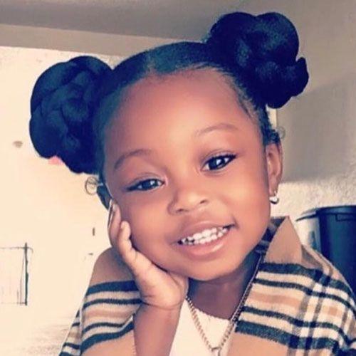 65 Cute Little Girl Hairstyles (2019 Guide) -   9 hairstyles Black bun ideas