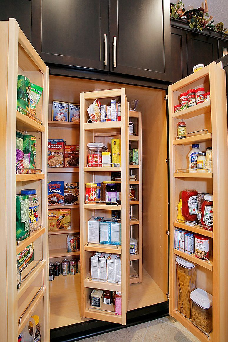 25 Smart Small Pantry Ideas To Maximize Your Kitchen Storage Space Clever Kitchen Storage Kitchen Cabinet Storage Traditional Kitchen Interior