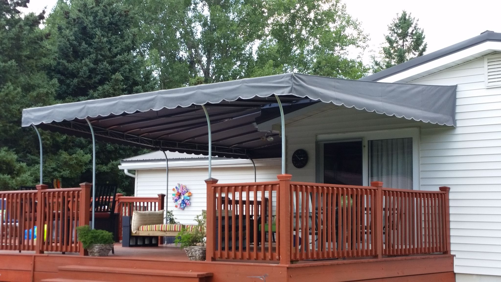 charcoal grey sunbrella patio awning jamestownawning patioawning