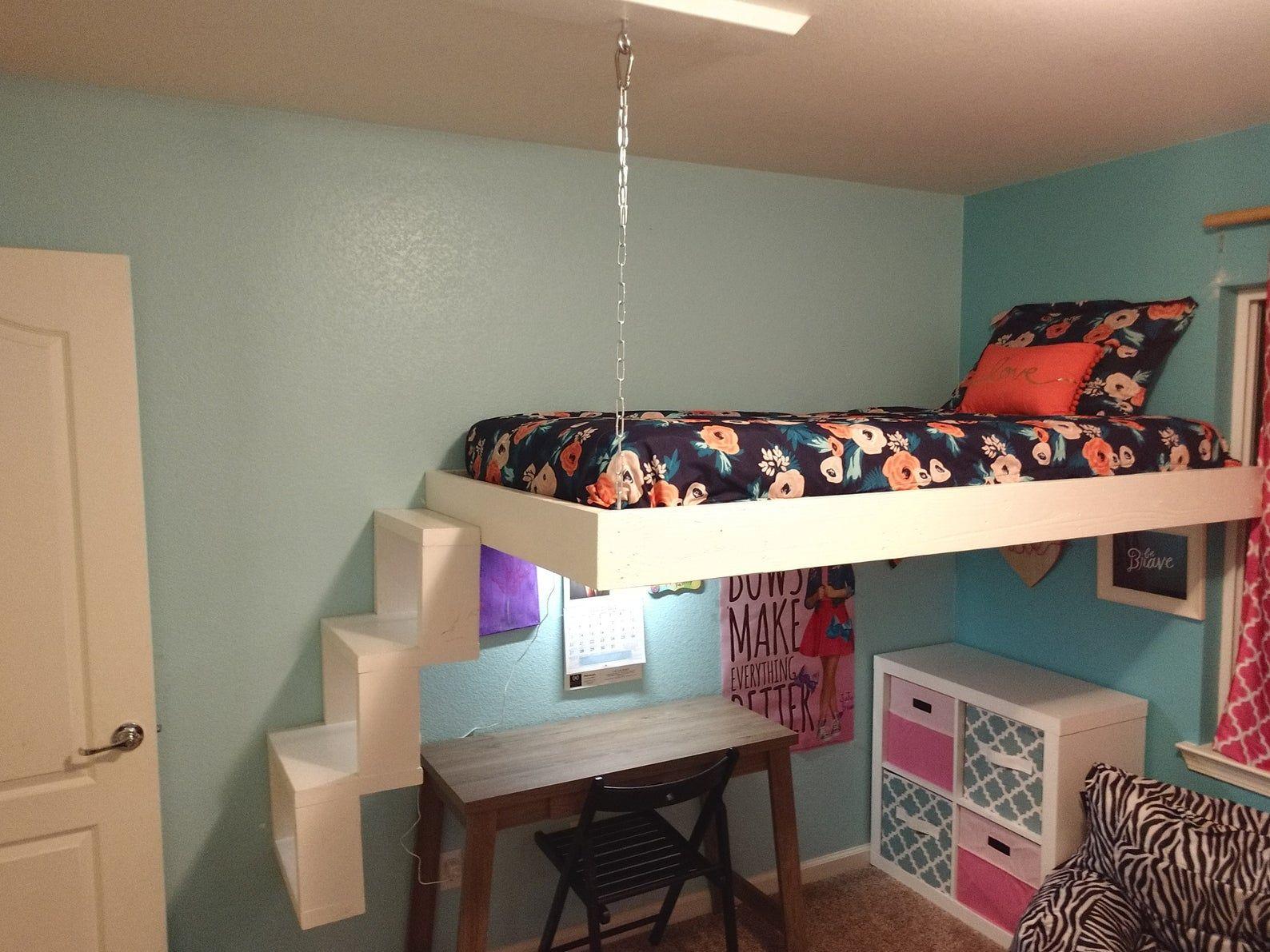 Floating Bed Frame in 2020 Floating bed frame, Loft bed