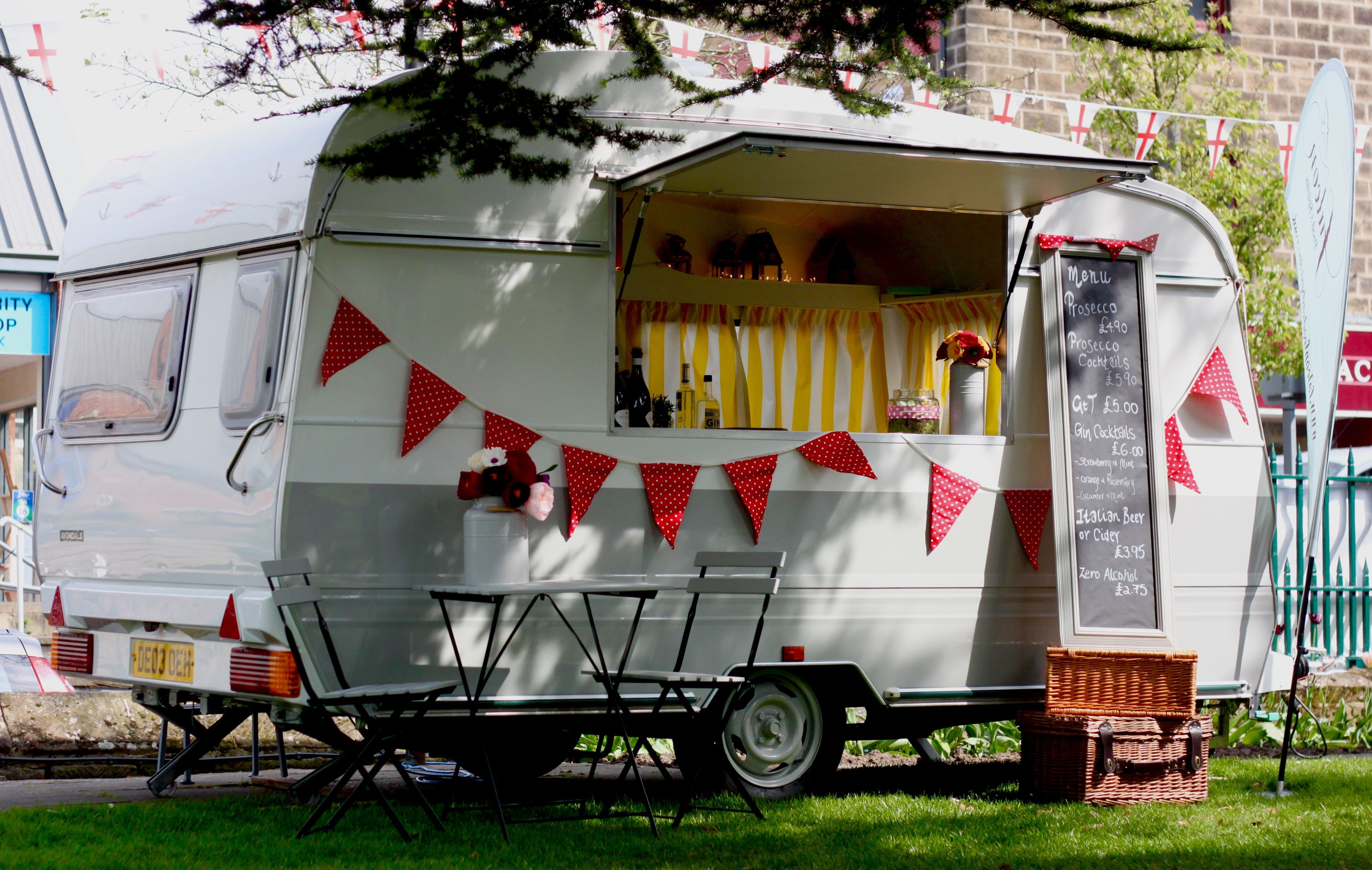 Bella Our Vintage Avondale Caravan Lovingly Converted Into A Mobile Bar She Gets A Lot Of Attention When We Take Her To Vintage Caravan Mobile Bar Prosecco