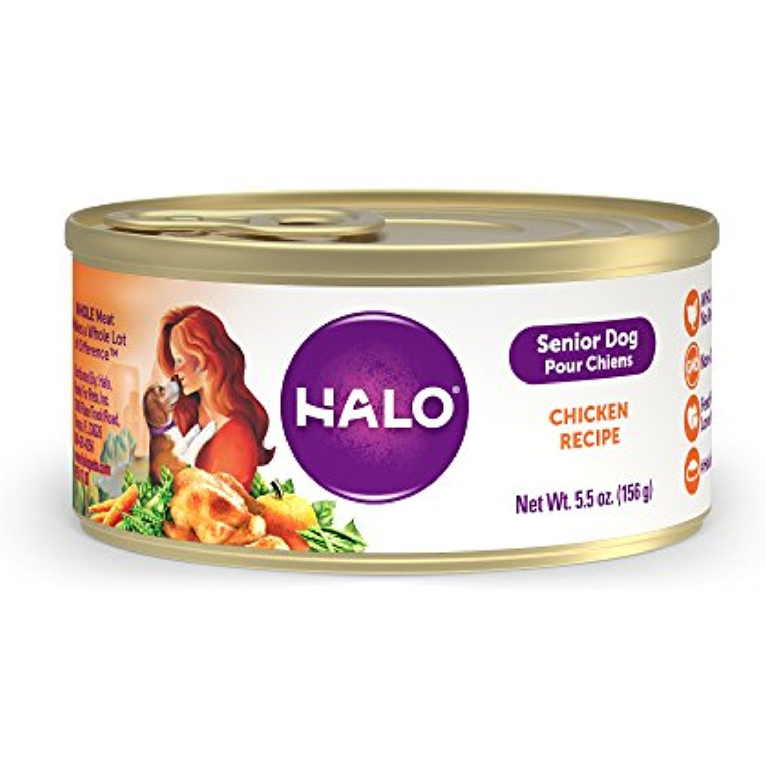 Halo purely for pets 60071 chicken recipe for senior dog