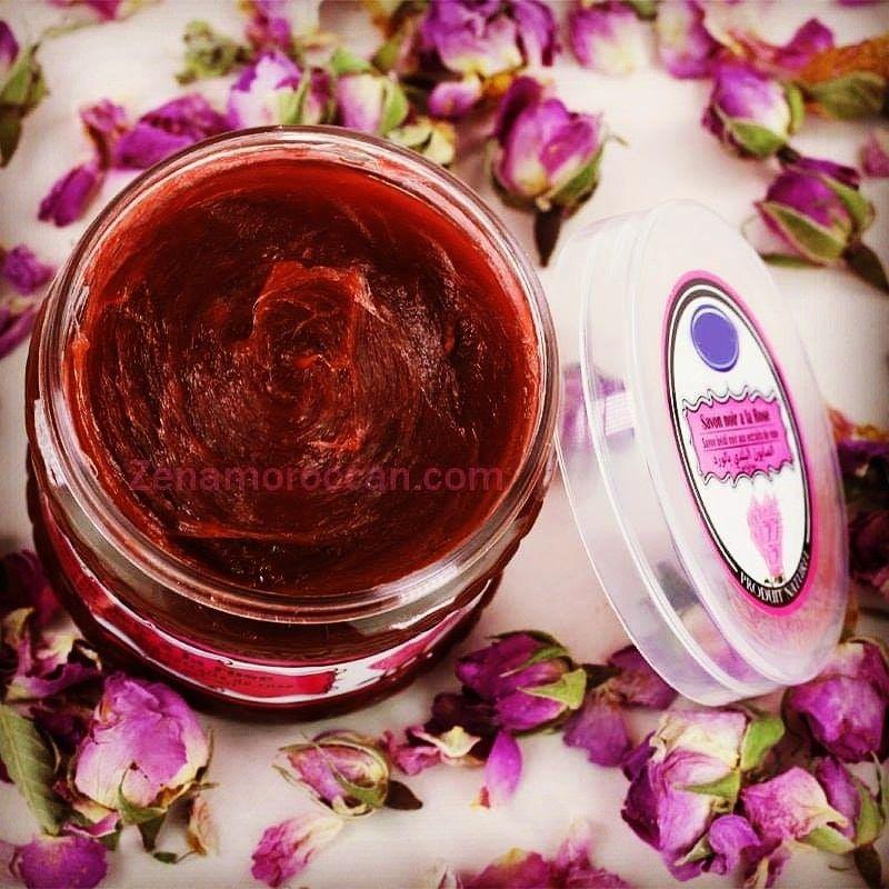 الصابون المغربي بالورد Natural Cosmetics Black Soap Soap