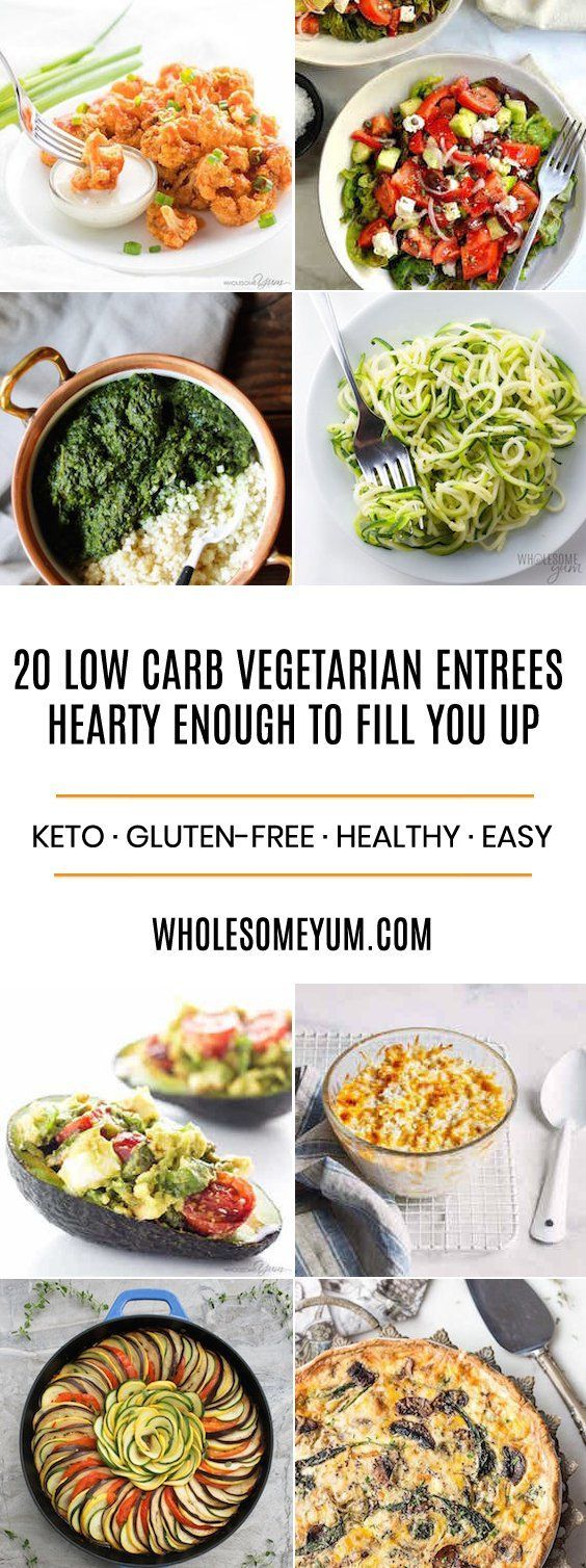 20 Hearty Low Carb Vegetarian Recipes Healthy Living Tips