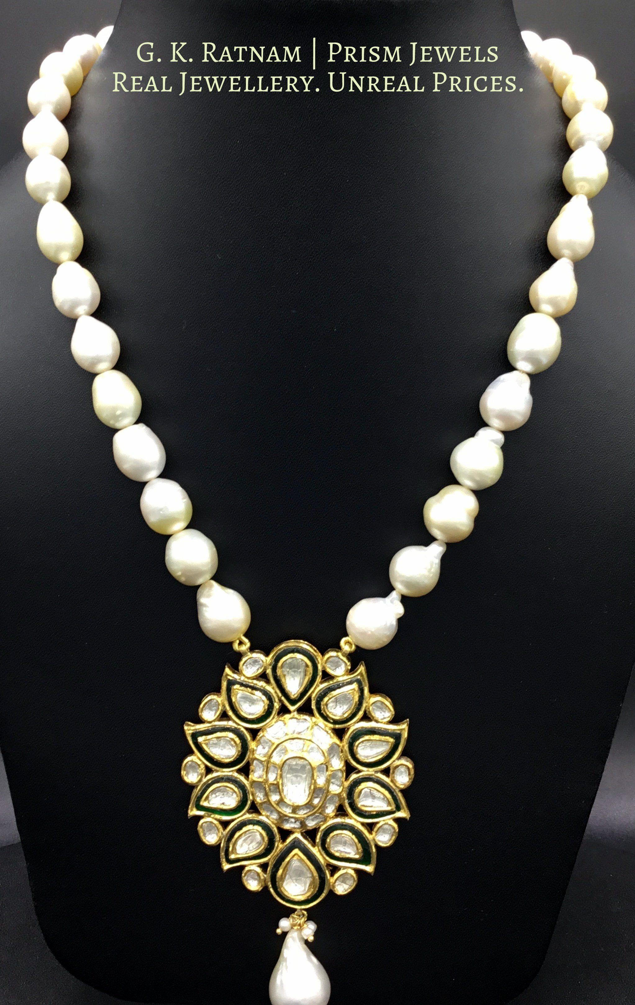 Pendant set uncut diamond pendant set and indian bridal diamond polki vilandi polki uncut diamonds old cut diamonds traditional indian bridal wedding kundan meena jadau jadtar hallmarked aloadofball Choice Image