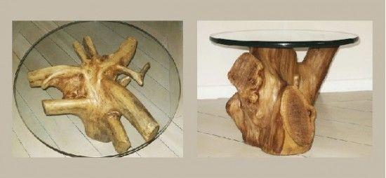 Mesa com troncos