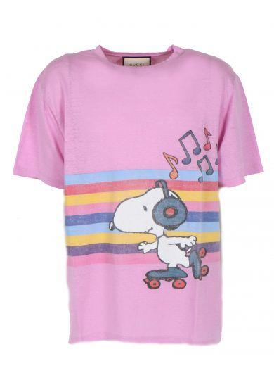 e32f3840126 GUCCI Gucci Snoopy And Woodstock Rainbow T-Shirt.  gucci  cloth  topwear