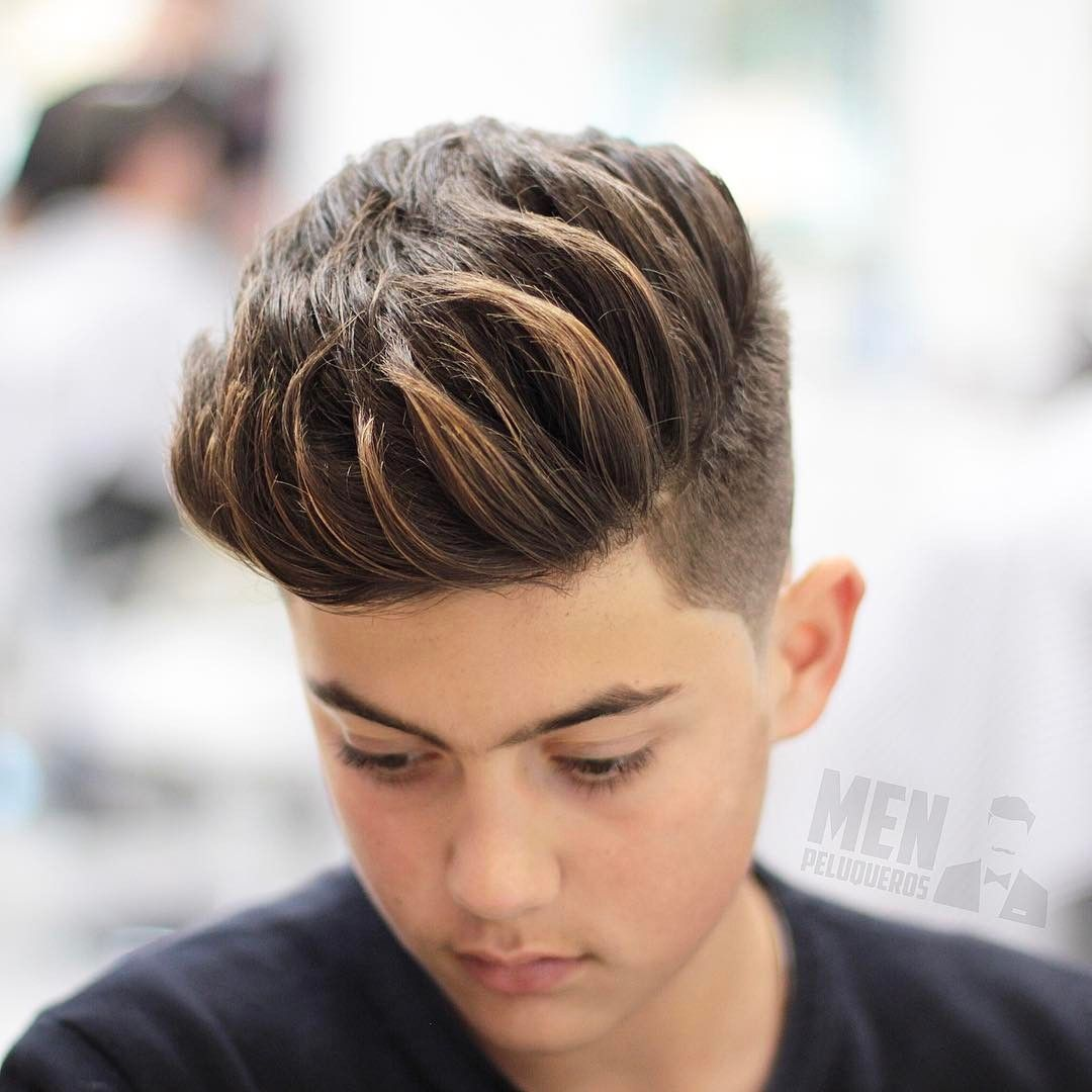 Comb Over Haircuts For Brush Up Hair Boys Hair Highlights Mens Hairstyles Boys Colored Hair