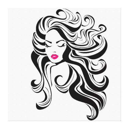 Black And White Vintage Girl Canvas Print Zazzle Com In 2020 Face Drawing Art Drawings