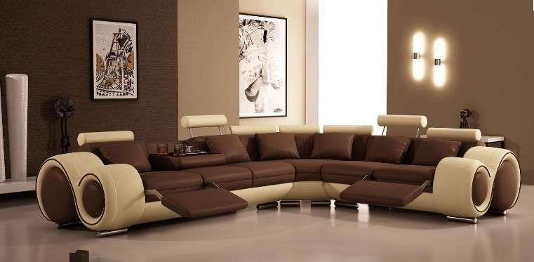 10 idee per il colore delle pareti in soggiorno - Soggiorno marrone ...