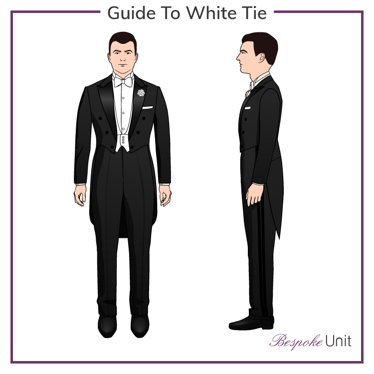 What Is White Tie A Guide To The Most Formal Dress Code White Tie Formal Dress Code Dress Codes