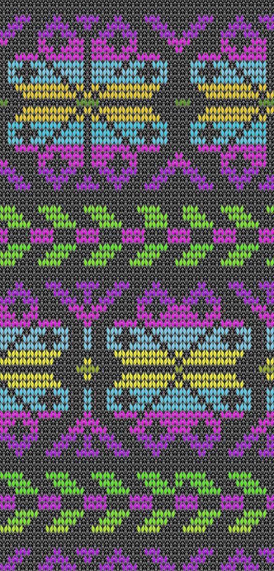 La selección de colores para jacquard tejer