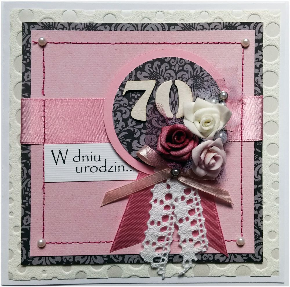 Kartka Na 70 Urodziny 70th Birthday Card With Images 70