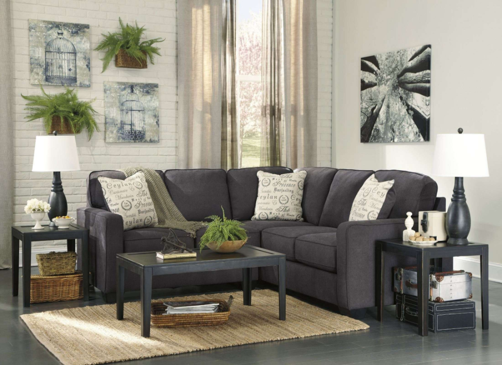 Best Charcoal Gray Sectional Sofa Living Room Grey Leather 400 x 300