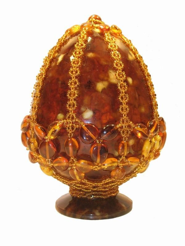 Egg shaped Russian amber. | ´)(` .¸AgelessAntiques | Faberge eggs ...