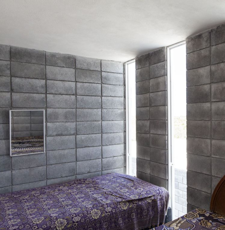 Casa caja vivienda unifamiliar 110 m general zuazua - Covering interior cinder block walls ...