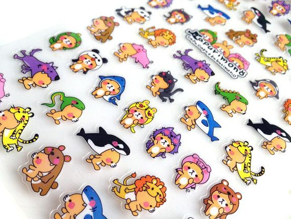 Moscot animal sticker mixed animal party japanese cartoon animal moscot animal sticker mixed animal party japanese cartoon animal icon anime animal seal sticker animal hats cut farm animal safari animal voltagebd Images