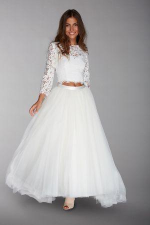 Crop Top Wedding Dress Wedding Dress Bridal Outfit