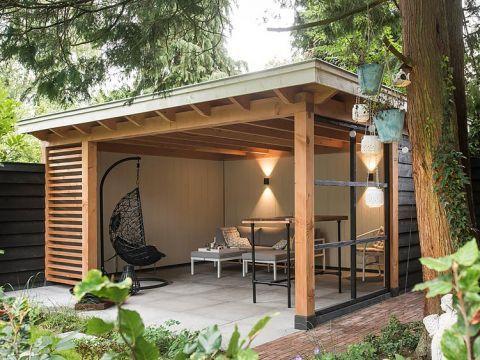 Buitenpracht Holzbauprojekte, Holzhütte garten