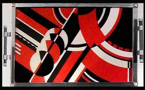 Art Deco geometric tray