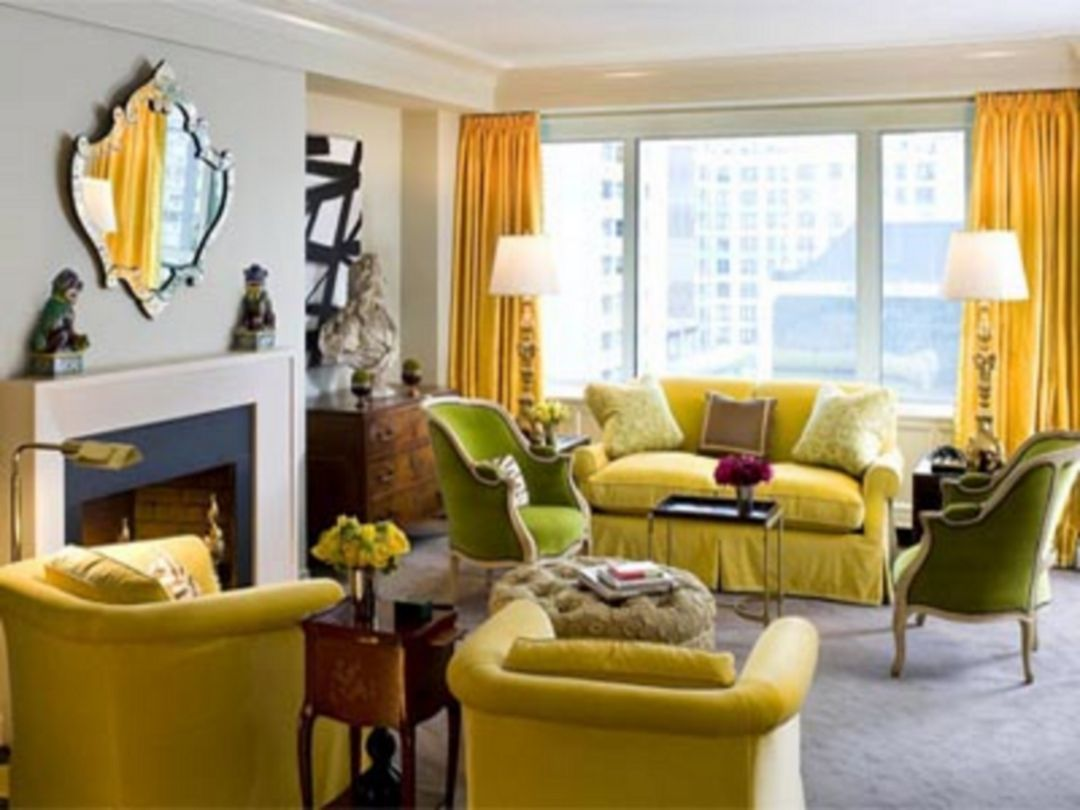 30+ Awesome Yellow and Gray Living Room Color Scheme Ideas | Room ...