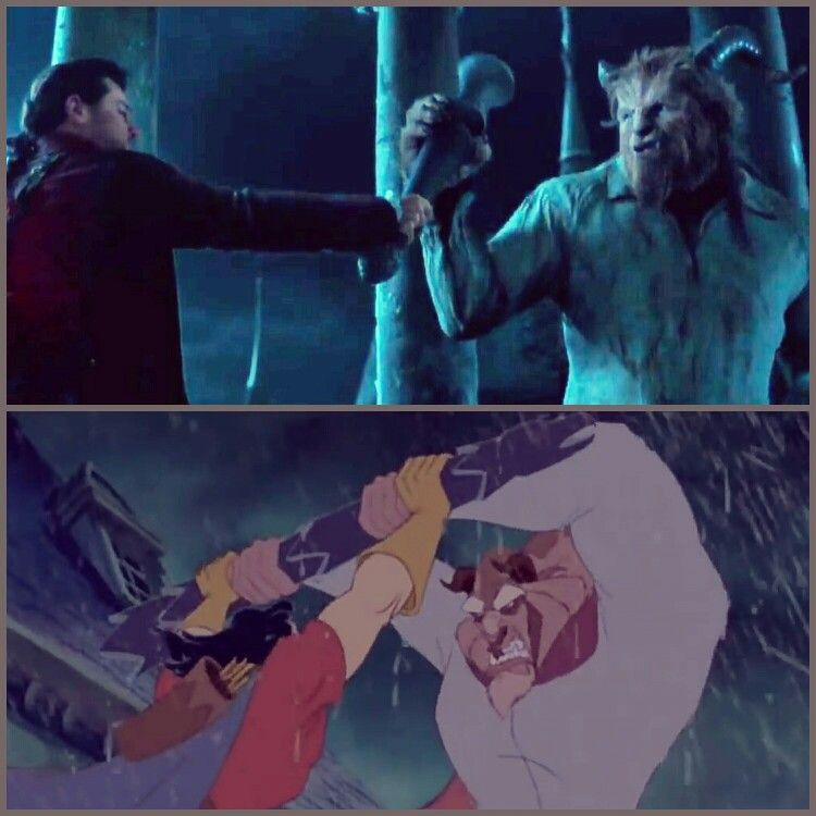 Collage By Me Beauty And The Beast 1991 Vs Beauty And The Beast