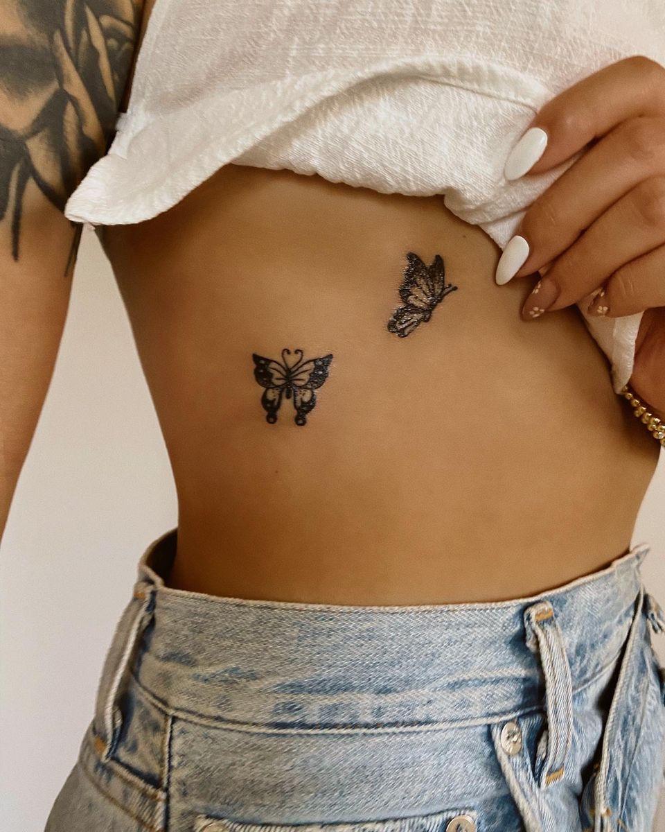 #tattoos #tattoosforwomen #daintytattoo #butterflytattoo