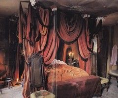 Victorian Gothic Bedroom Design//